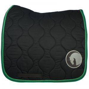 Czaprak dla konia ujeżdżeniowy Hook&Loop, zielony