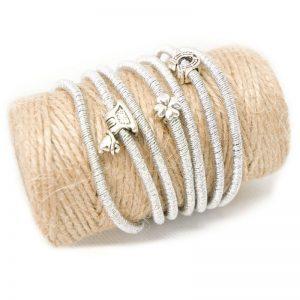 srebrna bransoletka z końskimi motywami