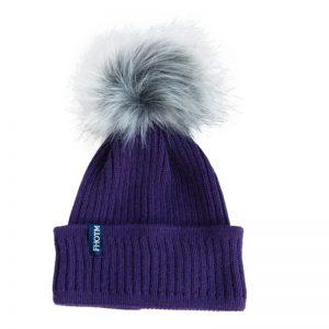 czapka z alpaki z odpinanym pomponem
