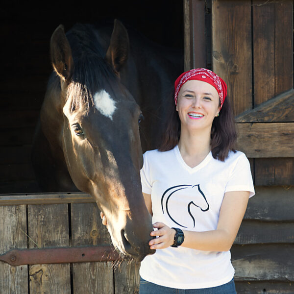 T-shirt z końskim nadrukiem Cheval