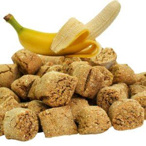 naturalne smakołyki dla koni, bananowe