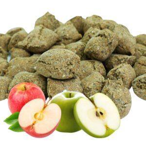 naturalne smakołyki dla koni, jabłkowe